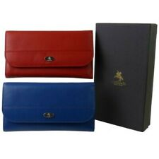NEW Ladies LEATHER Medium Flap Over PURSE WALLET by Visconti; Enya GIFT BOX