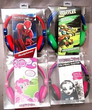 My Little Pony Spider Man Monster High Teenage Mutant Ninja Turtles Headphones