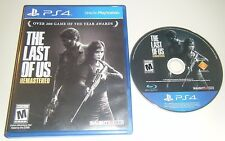* THE LAST OF US : REMASTERED * GAME & CASE for your Playstation 4 PS4 system.