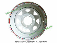 "Sunraysia 15"" LANDCRUISER RIM- White! Trailer Parts"