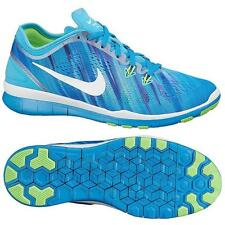 New Womens Nike Free 5 TR Fit Blue Print Fitness Sports Trainers Training Shoes