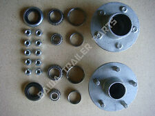 GALVANISED 5 STUD HOLDEN HQ HUBS WITH Ford or Slimline BEARING KITS TRAILER HUBS