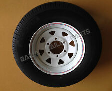 "SUNRAYSIA WHITE 14""- 6 Stud Landcruiser  WITH 185 LT TYRE ! Trailer Parts"