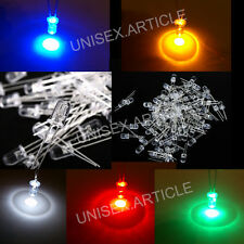 3/5/10mm Ultra Bright Water Clear LED Bulb 3V LED Light Emitting Diode 5 Colours