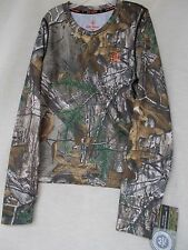 Boy's Realtree Xtra Camo 1.0 Base Layer Shirt Game Winner Youth Size 14-16 Large