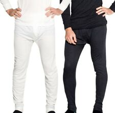 Thermals 2 Pack Mens Wool Blend Thermal Long Johns Black Beige Sz S M L XL XXL