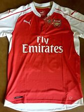 Arsenal New 2015/16 Red Home Jersey Sanchez Wilshere Ramsey Ozil