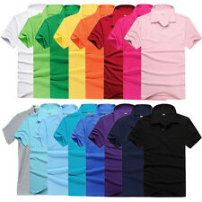 Unisex Lapel POLO Slim Fit Casual Summer  Tops Leisure Short Sleeve Polo T-Shirt