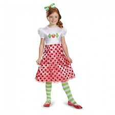 Girls Strawberry Shortcake Costume Fancy Dress Short Cake Toddler Child Kids NEW
