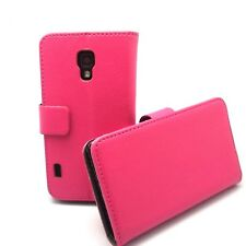 Hot Pink Wallet Leather Case Cover + Film For LG Optimus L7 II Dual P710/P715