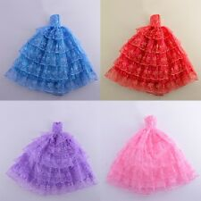 New Fashion Princess Dress/Handmade Clothes/Gown For Barbie Doll Dress 7 Colors