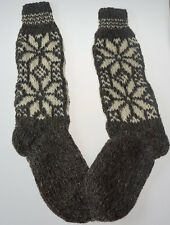 SALE !!! Ecological hand knitted Very LONG Knee SOCKS 100% sheep wool very warm!