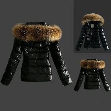 Warm Women Winter Outerwear Black Ladies Faux Fur Parka Hooded Jacket Coat XXXL