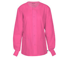 Pink Cherokee Workwear Unisex Warm Up Scrub Jacket 34350A SHPW Antimicrobial