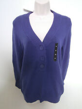 BANANA REPUBLIC Women's Blue Half Button Sweater Size SMALL NWT