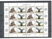 GREECE 1987 EUROPA CEPT MNH ISSUE IN SHEET OF 8 SETS