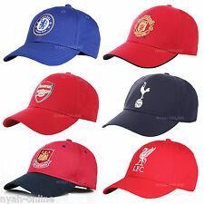 OFFICIAL MANCHESTER UNITED CHELSEA FC ARSENAL BASEBALL CAP PLAIN FITTED PEAK HAT