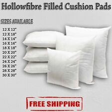 Hollowfibre Cushion Pads Extra Filled White Fiber All Sizes Free &Fast Delivery