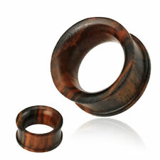 Concave Double Flat Flared Tunnel Organic Sono Wood Plug Pair