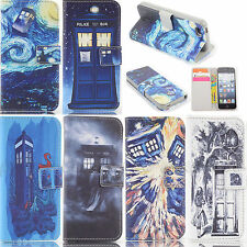 tardis doctor who Wallet Flip Leather case for Iphone Samsung A1-0012