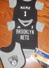 Brooklyn Nets Newborn Infant Jersey  Bib & Bootie Set add any name and number
