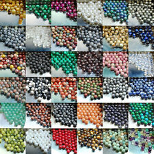 200pcs Wholesale Natural Gemstone Round Spacer Loose Beads Lot Free Shipping 4mm