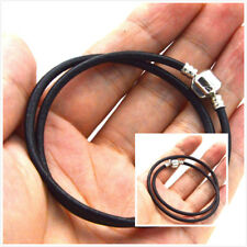 sell stainless steel 3mm Braided Genuine Leather Cord Necklace/Bracelet