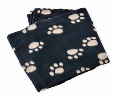 Pet Face Polar Fleece Dog Blanket Comforter Warm Soft Fleecy Paw Print Puppy Cat