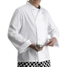 Long Sleeved Chefs Jacket Polycotton Catering Shirt Press Studs White Restaurant