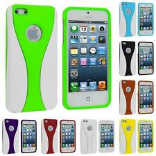 Color White 3-Piece Hard Snap-On Rubberized Case Cover for Apple iPhone 5 5G 5S