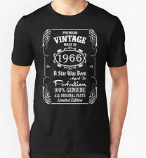 Made in 1966 T Shirt 50th Year Birthday Age Present Vintage Funny T-Shirt