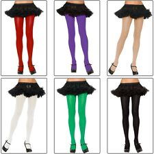 Plus Size Nylon Spandex Tights Adult Womens Hosiery Opaque Solid Colors