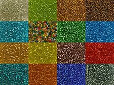50g glass seed beads - Silver-Lined, size 6/0 (approx 4mm) - choice of colours