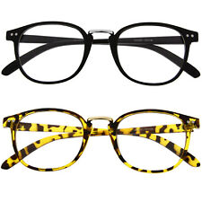 Retro Vintage Style Clear Lens Eye Glasses Hipster Cool Nerd Smart Oval Round