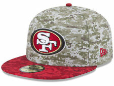 Official 2015 San Francisco 49ers New Era 59FIFTY Hat NFL Salute to Service