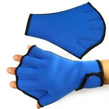 Brand New Surfing Swim Diving Frog Webbed Fingerless Swim Aid Gloves Blue U97