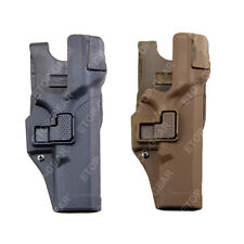 Tactical Right Hand Waist Belt LEVEL 3 Lock Duty Holster Glock 17 19 22 23 31 32