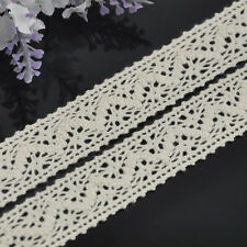 5/10Y1'' Beige embroidered cotton trimming Appliques wedding craft cloth L101