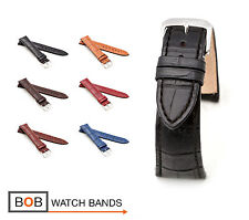 "Rios1931 Alligator Style Watch Band ""Louisiana"", 18 - 22 mm, 6 colors, new!"