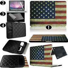 USA Flag Rubberized Hard Case+Carrying Bag+Keyboard Cover For Apple Macbook
