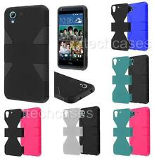 DYNAMIC TPU RUBBER SKIN + Hard Cover Case For HTC Desire 626 626s cell phone