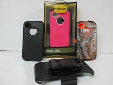New Defender Case For Apple iPhone 4/4s W/ Holster Belt Clip & Screen Protector