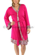 Pyjamas Ladies Summer PJs Light Dressing Gown Robe Hot Pink Sz 8 10 12 14 16
