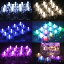 12pcs LED Submersible Waterproof Wedding Xmas Decor Vase Tea Light Lamp Candles