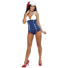 Pinup Sailor Navy Girl 1940's Costume Halloween Fancy Dress