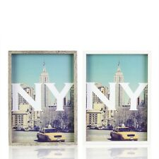 """13x18 CM 5""""X7"""" New York Wooden Vintage Photo Frame Hanging Wall Home Decor"""