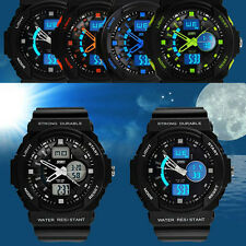 New Mens Military Sport Wrist LED Waterproof Digital LCD Alarm Date Watches Gift