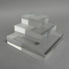 Clear, Frosted & Coloured Acrylic Display Blocks Retail Jewellery/Watch Display