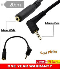 2.5mm Male to 3.5mm Female Adapter Cable Stereo Audio Headphone Connection Cord