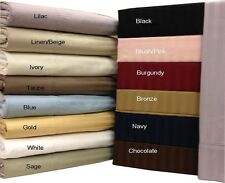 Split-King-Size Cotton sheets, 600 Thread count Stripe Collection